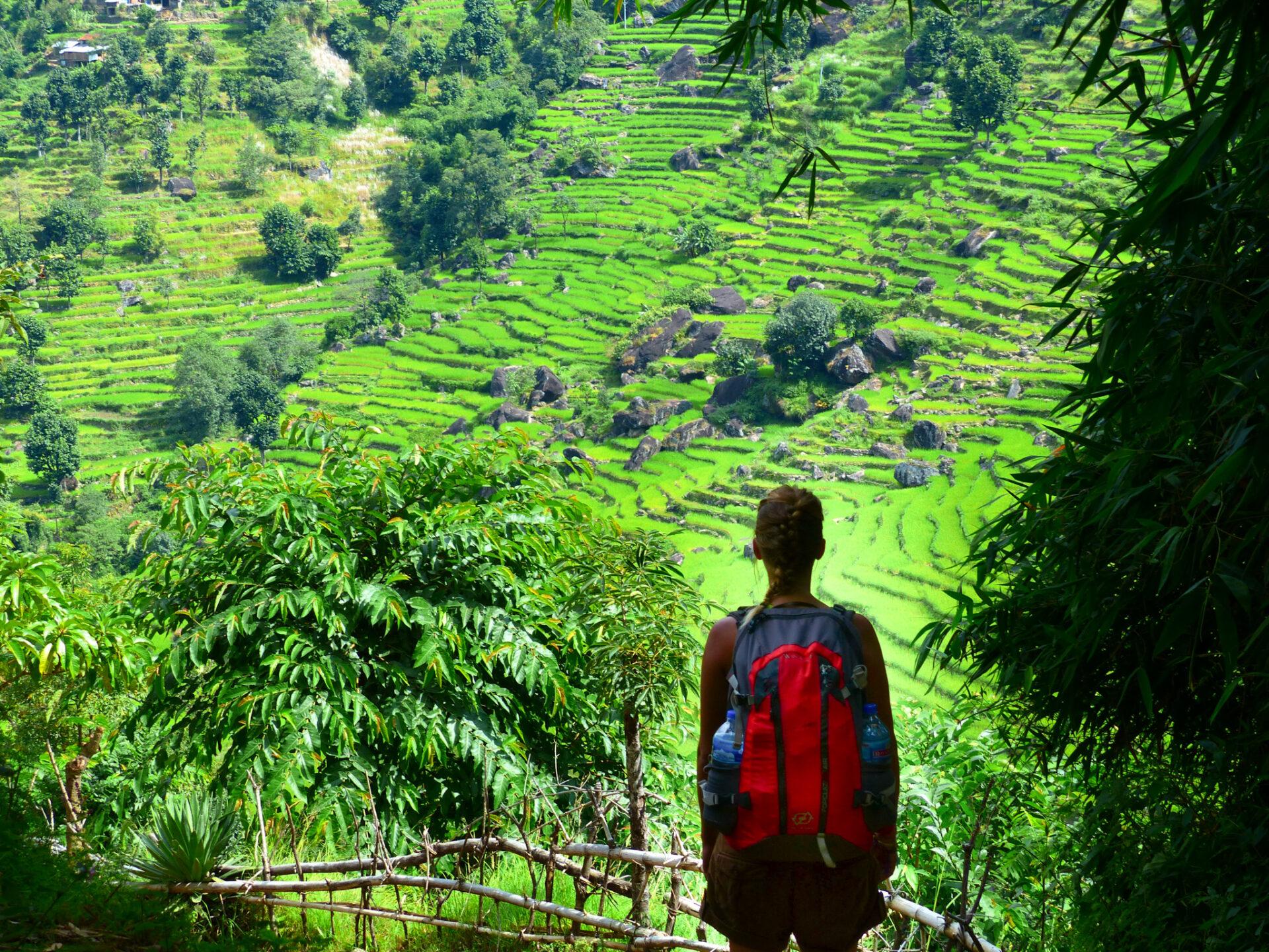 Fille d'Aventures sur le trek du tour des Annapurnas