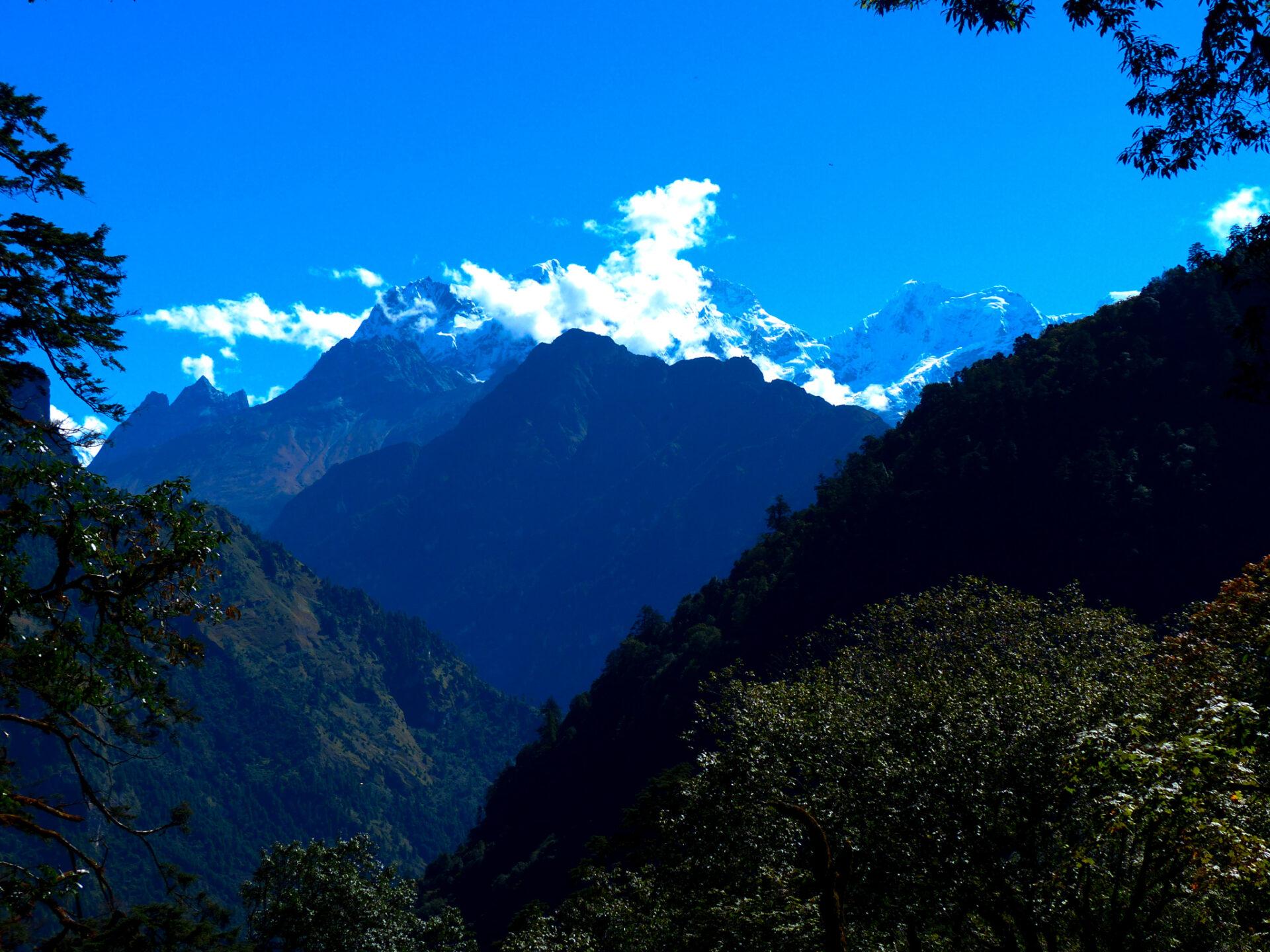 Les Annapurnas enneigées