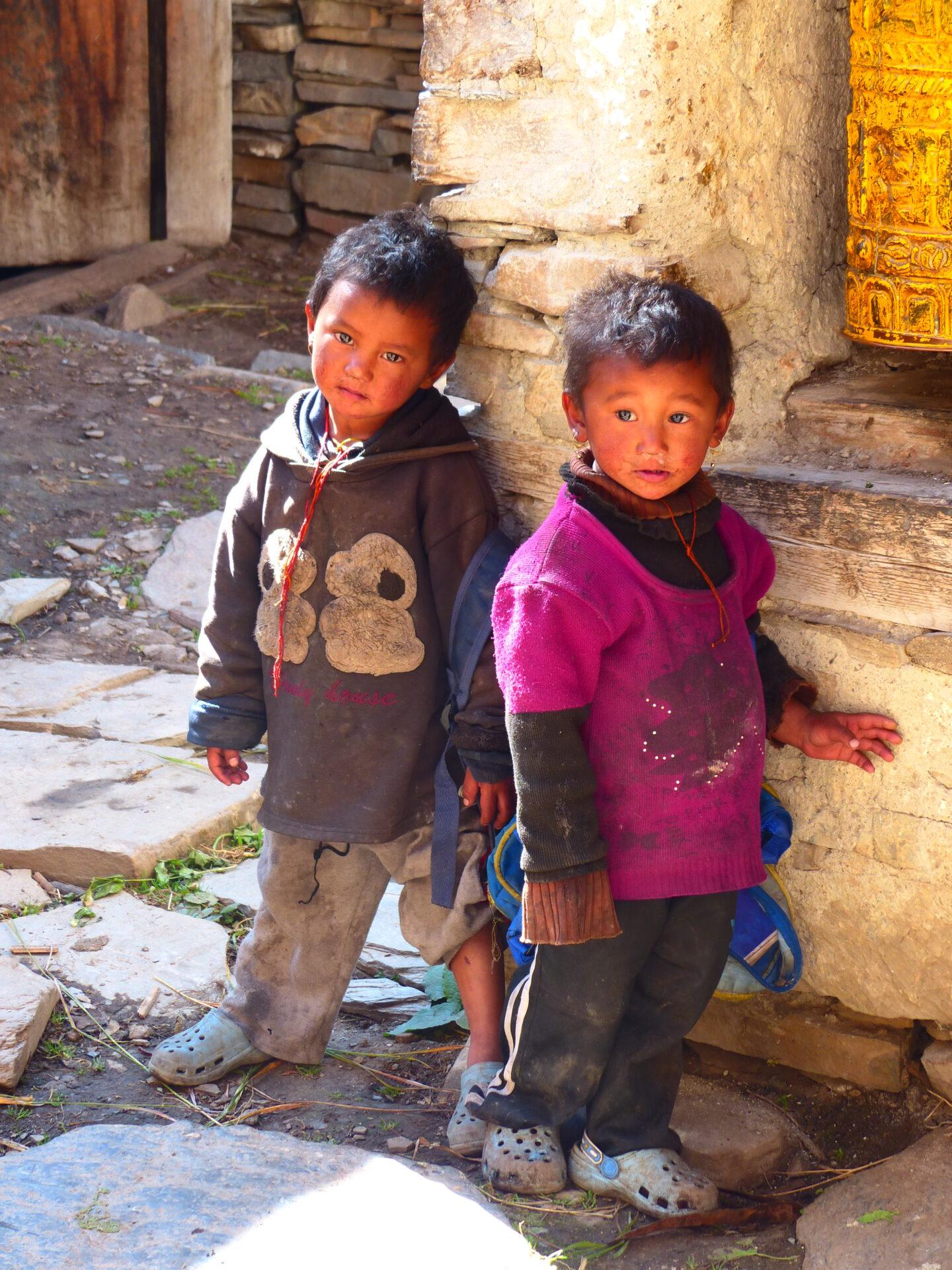 Enfants népalais de l'Annapurna