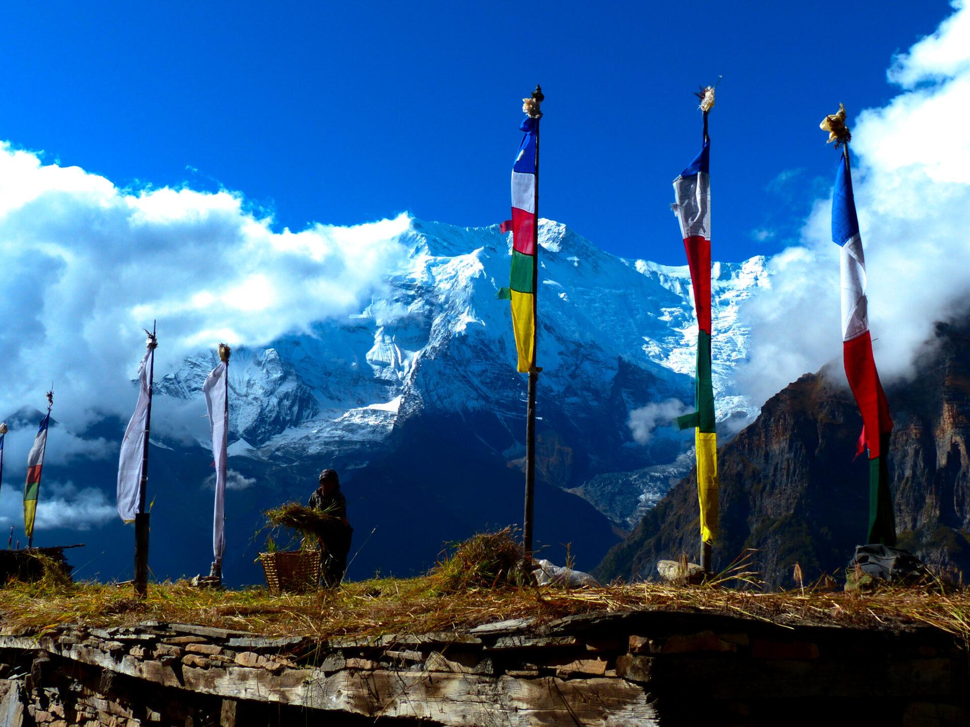 Un village sur le tour des Annapurnas