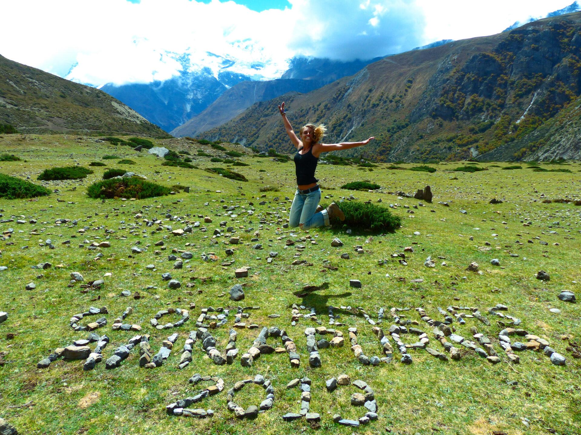 Fille d'Aventures sur le trek des Annapurnas
