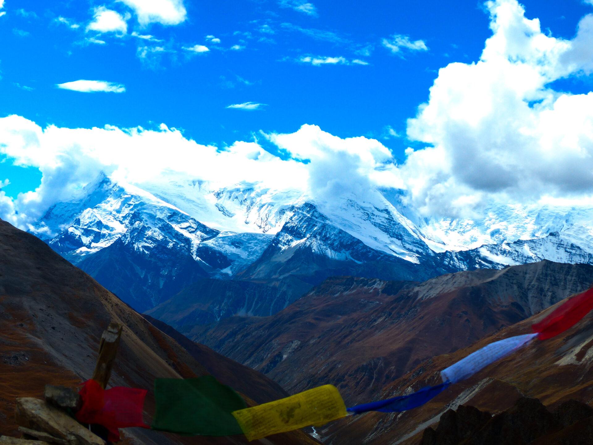 La chaînes des Annapurnas enneigée